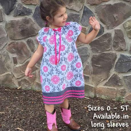 Pink & Gray Toddler & Baby Dress