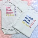 Birth Announcement Baby Top