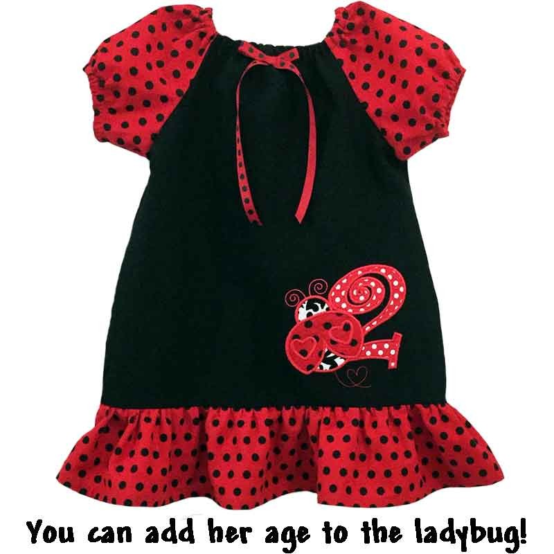 Red Polka Dot Ladybug Baby Amp Toddler Dress Lucky Skunks