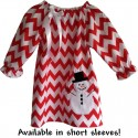 Red Chevron Baby & Toddler Winter Dress