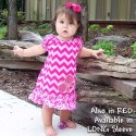 Pink Chevron Ruffled Baby & Toddler Dress