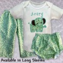 Cute & Cuddly Green Elephant Baby Outfit