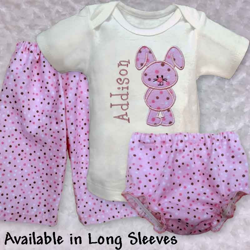 Cute Amp Cuddly Pink Bunny Baby Outfit Lucky Skunks Baby
