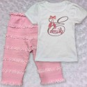 Monogrammed Ballet Slippers Baby Outfit