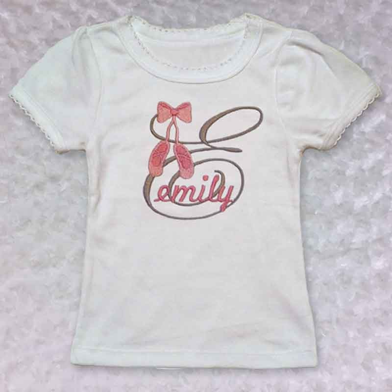 Monogrammed Ballet Slippers Baby Outfit Lucky Skunks