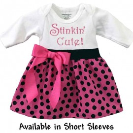 Stinkin' Cute Onesie Baby Dress