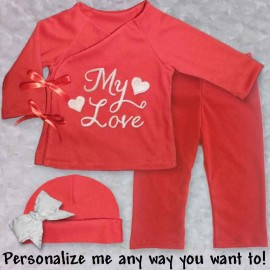 Personalized Red Infant Outfit