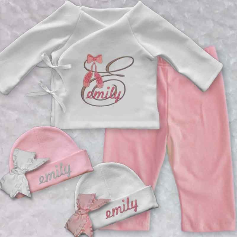 Beautiful Monogrammed Baby Girl Outfit - Lucky Skunks Baby-Toddler ...