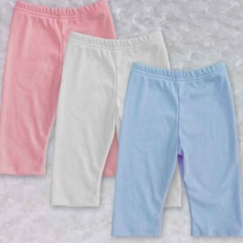 White, Pink, or Blue Pastel Baby & Toddler Leggings