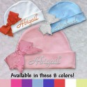 Personalized Baby Hat With Ruffle Bow