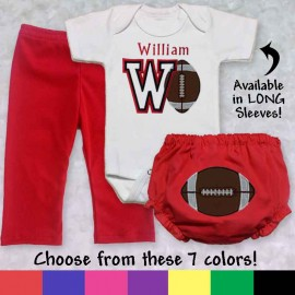 Personalized Football Baby Outfit