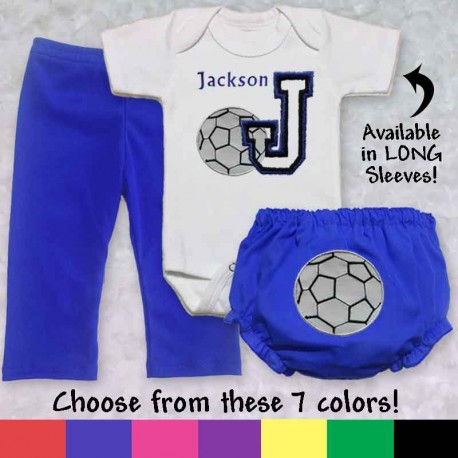 e5ff13a18 Personalized Soccer Baby Outfit - Lucky Skunks Baby-Toddler Clothes