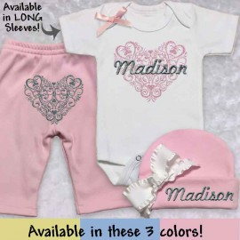 Pink Take Me Home Baby Outfit