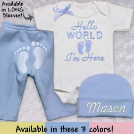 Blue Take Me Home Baby Outfit