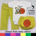 Personalized Basketball Baby Outfit