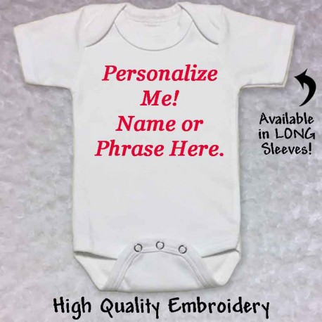 Personalized Baby Onesie