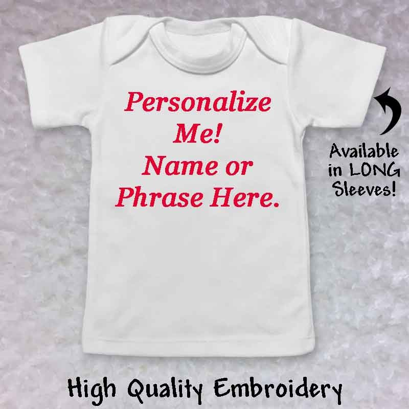 Personalized Baby T Shirt Lucky Skunks Baby Toddler Clothes