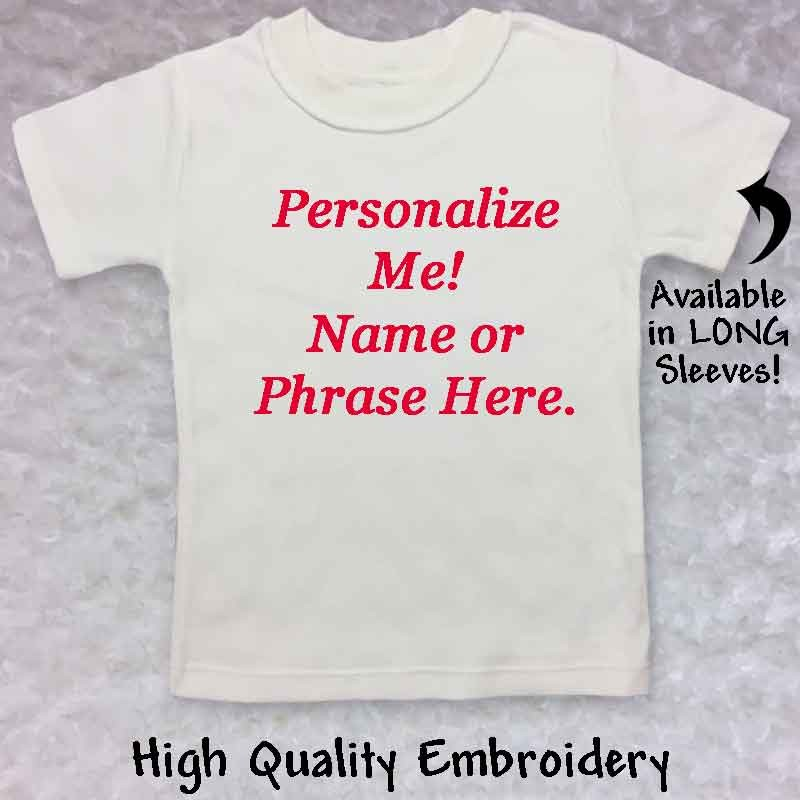 Personalized Toddler T Shirt Lucky Skunks Baby Toddler