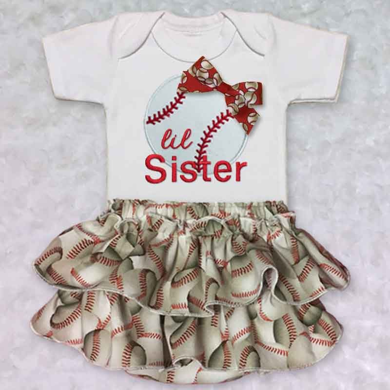 Baseball Baby Outfit - Lucky Skunks Baby-Toddler Clothes