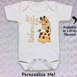 Cute yellow giraffe T-shirt or Baby Onesie