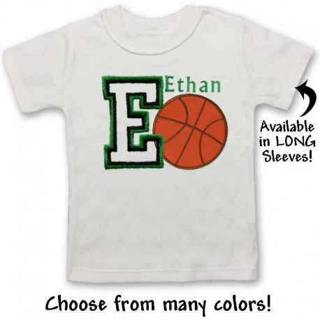 Personalized Baby and Toddler Basketball Shirt