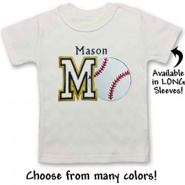 Personalized Baby and Toddler Baseball Shirt