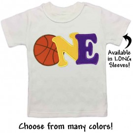 First Birthday Basketball T-shirt