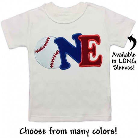 First Birthday Baseball T Shirt