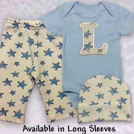 Newborn Baby Outfit with Stars