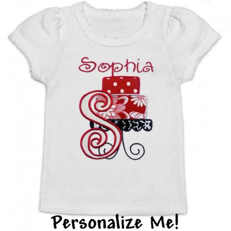 Personalized Red Cake Toddler Shirt