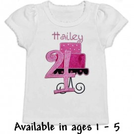 Pink Birthday Cake Shirt