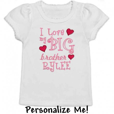 I Love My Sibling Hearts T-shirt
