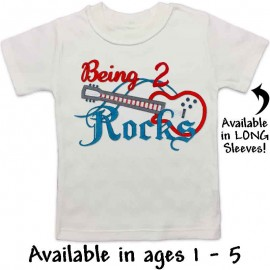 Rock Music Birthday Shirt for Kids