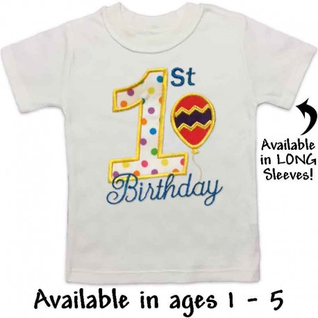 1st Birthday Balloon T Shirt