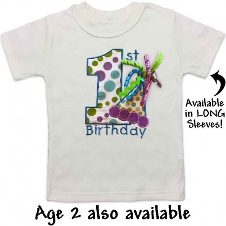 Birthday Time Cute 1st T Shirt