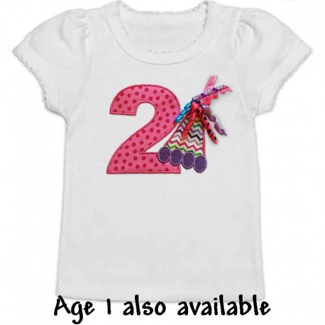 Birthday Time! Pink and Purple Party Hat T-shirt