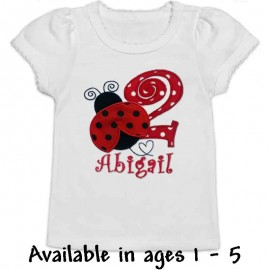 Red Ladybug Birthday T-shirt