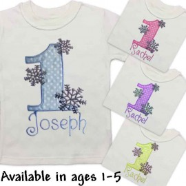 Winter Wonderland 1st Birthday Snowflake Shirt