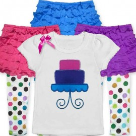 Bright & Cute 1st birthday ruffle baby outfit