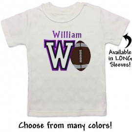 Personalized Football Baby and Toddler Shirt