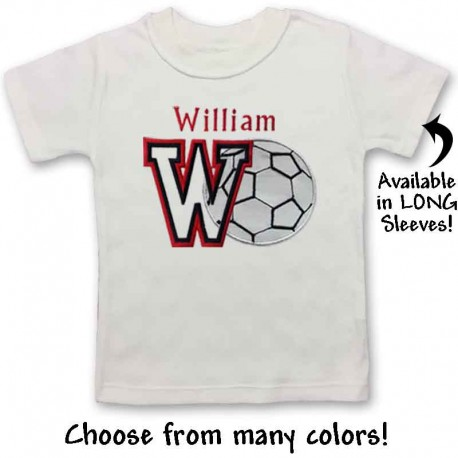 Personalized Baby and Toddler Soccer Shirt