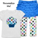 Cute Ruffle Skirt Cupcake Baby Outfit-Teal