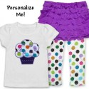Cute Ruffle Skirt Cupcake Toddler Outfit-Purple