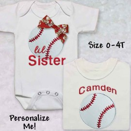 Brother Sister Personalized Baseball Shirt