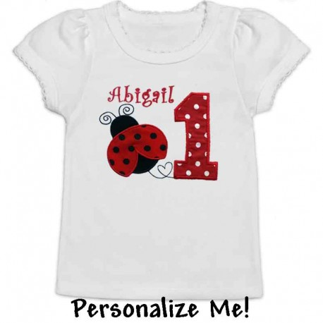 af9cb4be Red Ladybug 1st Birthday Shirt - Lucky Skunks Baby-Toddler Clothes