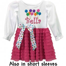 Pink Ruffled Girls Birthday Dress