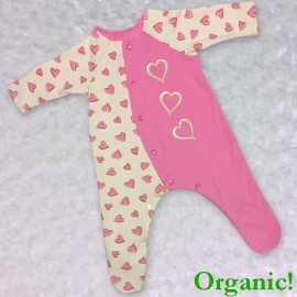 Pink Organic Baby Outfit