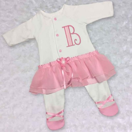 Pink Tutu One Piece Baby Girl Outfit Lucky Skunks Baby