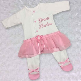 Pink Tutu One Piece Baby Girl Outfit
