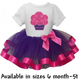 Pink and Purple Cupcake Tutu Outfit
